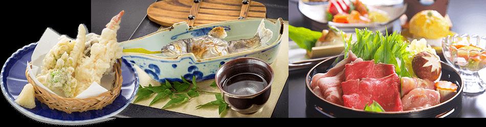 四季でかわる豪華四万源泉バイキング お料理